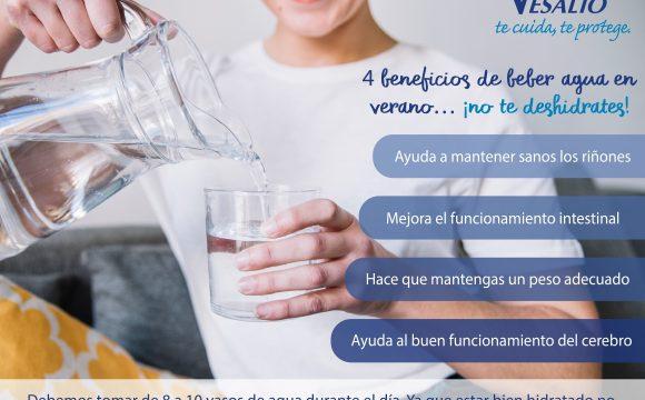4 beneficios de beber agua en verano… ¡no te deshidrates!